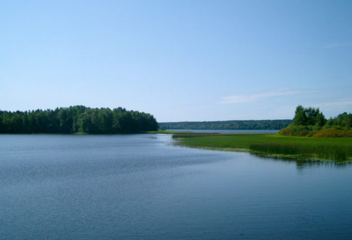 Гладь на озере Пионерское